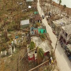 Drone footage Hurricane Matthew Stock Footage