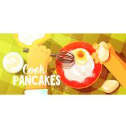 Pancakes Cooking Bright Color Illustration Stock Illustration