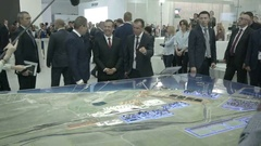 SOCHI, RUSSIA -: Russian Prime Minister Dmitry Medvedev and Stock Footage