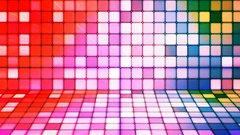 Broadcast Twinkling Hi-Tech Cubes Stage, Multi Color, Abstract, Loopable, 4K Stock Footage