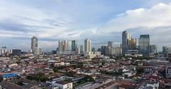 Time lapse of the sunset over Jakarta skyline in Indonesia capital city Stock Footage