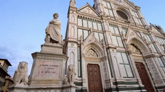 Time lapse of tourists  that visiting Piazza Santa Croce, Florence Stock Footage