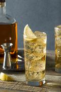 Whiskey Highball with Ginger Ale Stock Photos