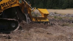 Machine that put tubes in the field Stock Footage