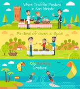 Spain Entertainment Festivals Holidays. Vector Stock Illustration