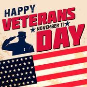 Happy veterans day Stock Illustration
