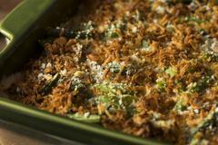 Homemade Green Bean Casserole Stock Photos
