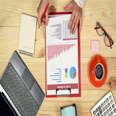 Woman Monitoring Stock Market Charts Stock Footage