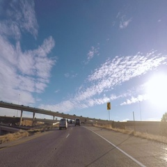 POV point of view - Drive on interstate highway. Stock Footage