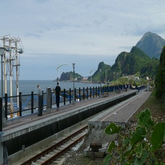 New Taipei City, Taiwan - Baduji train station waiting for the re- Stock Footage