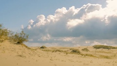 High sand Dunes and Cloudy Sky Stock Footage