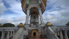 View of Buddhist Wat Tham Seua (Tiger Cave) temple in Krabi Stock Footage