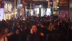 Istanbul istiklal street shopping Stock Footage