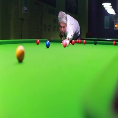 Footage of a man trying to make a point at snooker, but he missed the hole Stock Footage
