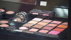 Shop Cosmetics Showcase Stock Footage