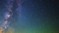 Astro Timelapse of Milky Way over Array of Radio Observatories -Sky Only- Stock Footage