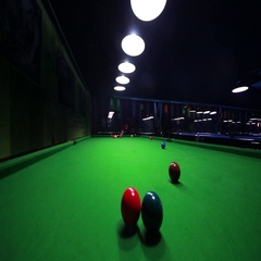 Footage of a snooker player making several points in a row Stock Footage