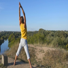 Young man standing at yoga pose at nature. Close up Stock Footage
