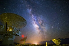 5K Astro Timelapse of Milky Way over Radio Observatories  Stock Footage
