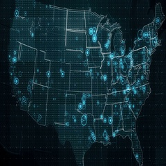 Decreases Diagram on USA Map with Textholder Stock Footage