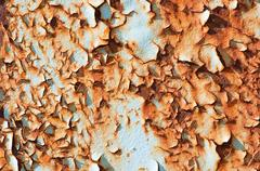 Rusted metallic surface with flaky paint Stock Illustration
