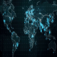 Decreases Diagram on the World Map Stock Footage