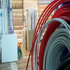 Hose for watering in a hardware store Stock Footage