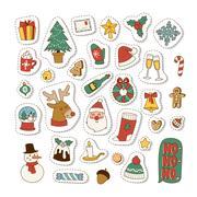 Christmas icons symbols vector set. Stock Illustration
