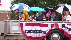 Fairborn Masonic group in Ohio 4th of July parade 4k Stock Footage