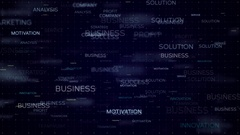 Business words concept - loop background Stock Footage