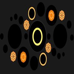 CIRCULAR VJ LOOPS - MOSAICO GALAXYA - KALEIDO ORANGE Stock Footage