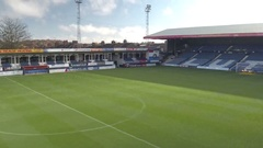 Luton Football Club Boxes and Main Stand Stock Footage