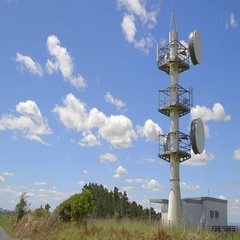 Radio Tower in New Zealand Stock Footage