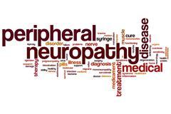 Peripheral neuropathy word cloud Stock Illustration