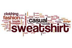 Sweatshirt word cloud Stock Illustration