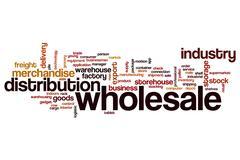 Wholesale word cloud Stock Illustration