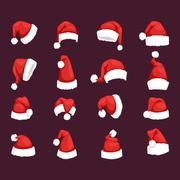 Santa christmas hat vector illustration. Stock Illustration