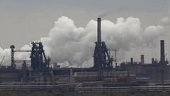 Environmentally Hazardous Industry. Air Pollution by Smoke. Stock Footage