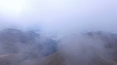People Hiking on the Trail to Pichincha Stock Footage