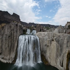 Shoshone falls fly over Stock Footage