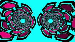 Hexxa visuals side move and zoom pipes of hexagonal shapes flashing on the beat Stock Footage