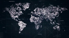 Cyber map hud look design Stock Footage