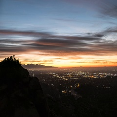 Los Angeles San Fernando Valley Early Morning Time Lapse b Stock Footage