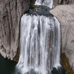 Shoshone falls aerial Stock Footage
