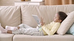 Web Surfing on Tablet Stock Footage