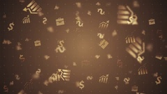 Gold Financial elements -  loop background Stock Footage