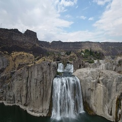 Beautiful Shoshone Falls Waterfalls Stock Footage