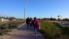 Melbourne, St Kilda Beach -  People Walking in Slow Motion Stock Footage