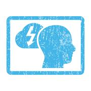 Brainstorming Icon Rubber Stamp Stock Illustration