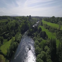 Waikato River in New Zealand Stock Footage